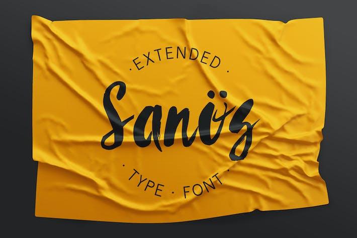 Thumbnail for Sanös Extended Script Font