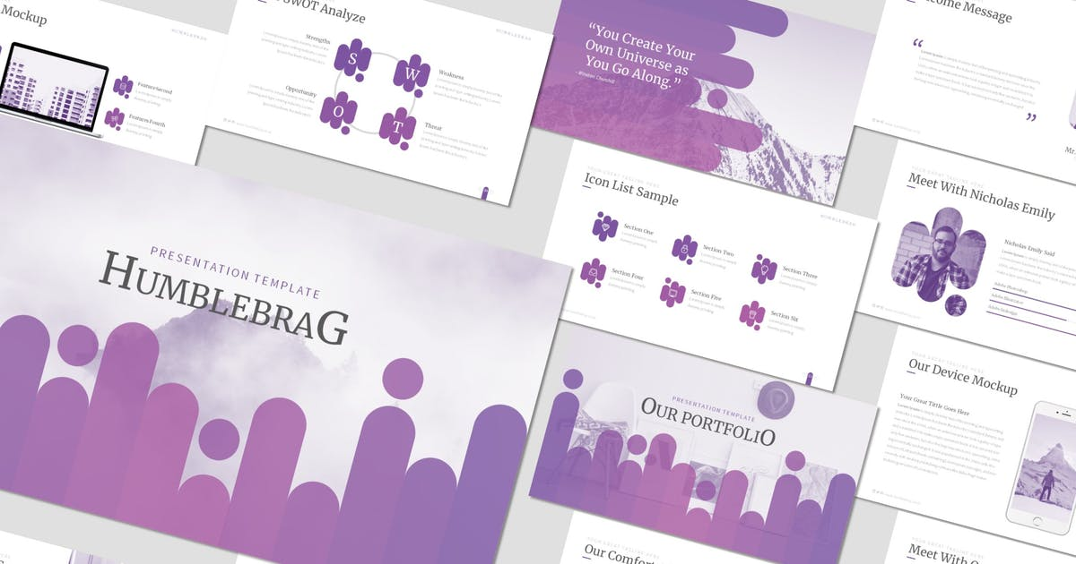 Download Humblebrag - Powerpoint Template by inspirasign
