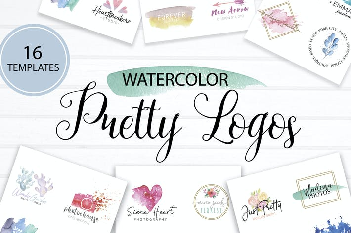 Thumbnail for Pretty Watercolor Logos