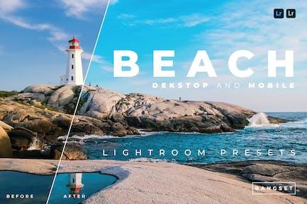 Пляжный настольный компьютер и мобильный Lightroom
