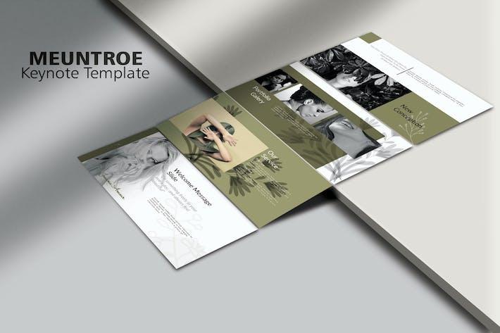 Thumbnail for MEUNTROE - Минимальный Шаблон Keynote