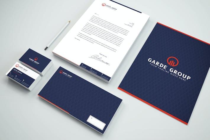 Paket-Branding Identität & Schreibwaren