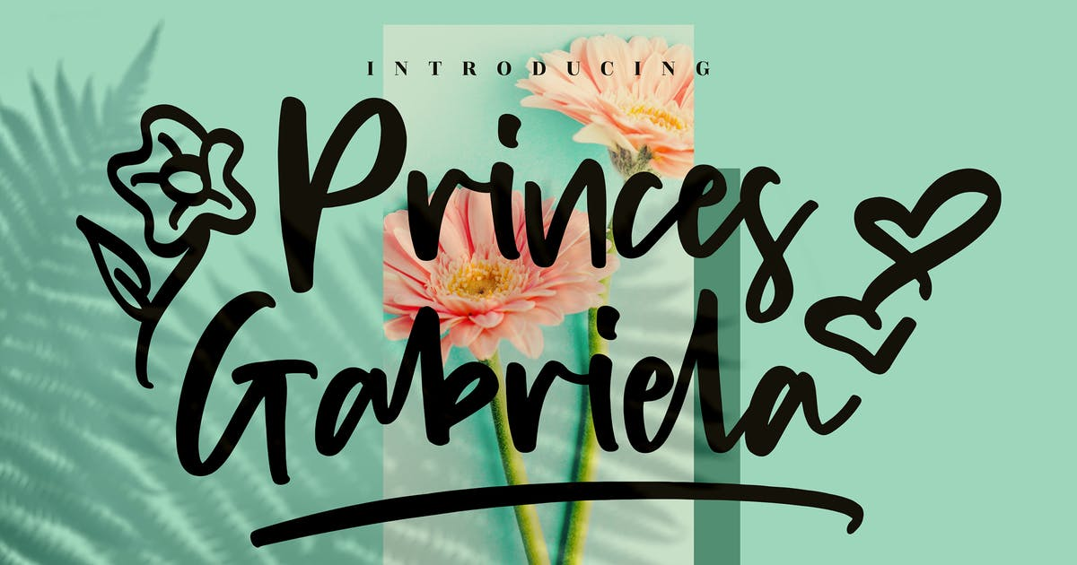 Download Princes Gabriela Handwritten Font LS by GranzCreative