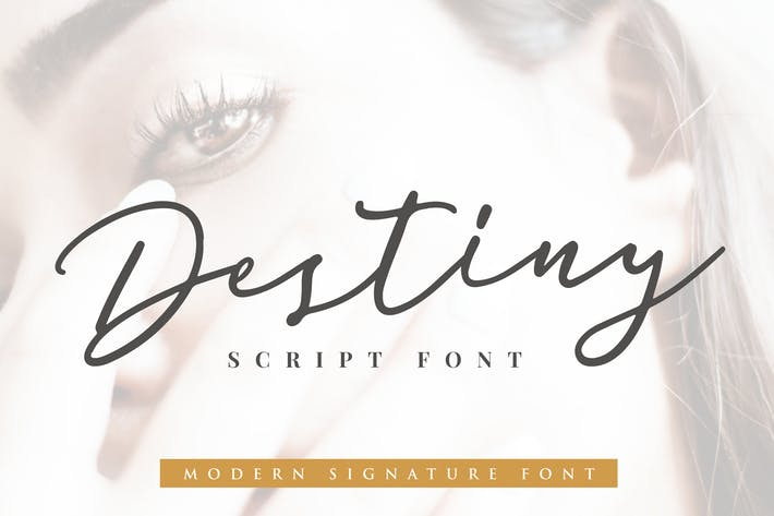 Thumbnail for Destiny Signature Font