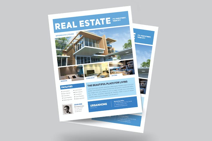 minimal real estate flyer by guuver on envato elements