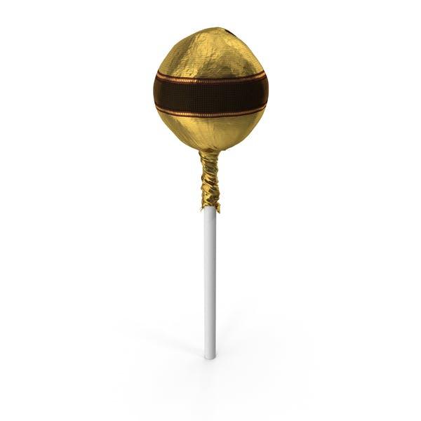 Fancy Wrapped Lollipop Gold