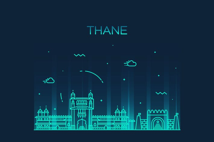 Thumbnail for Thane skyline, India