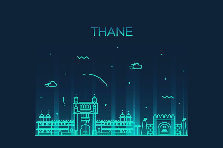 Thane skyline, India