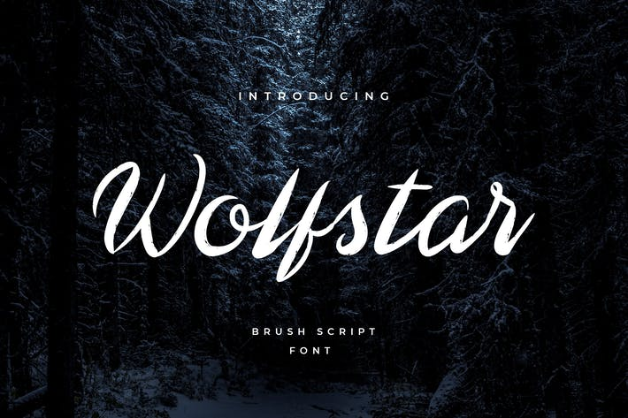 Thumbnail for Wolfstar Modern Script Handwritten Font