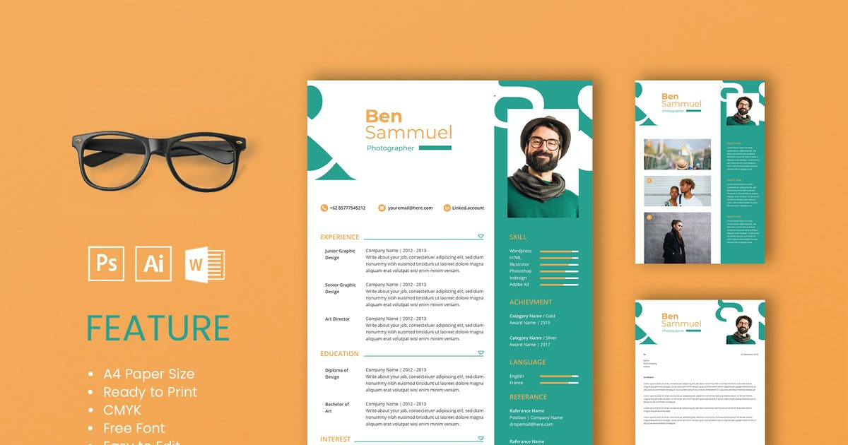 Download Professional CV And Resume Template Sam by WPBootstrap