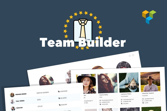 Thumbnail for Team Builder — Rencontrez l'équipe WordPress Plugiciels
