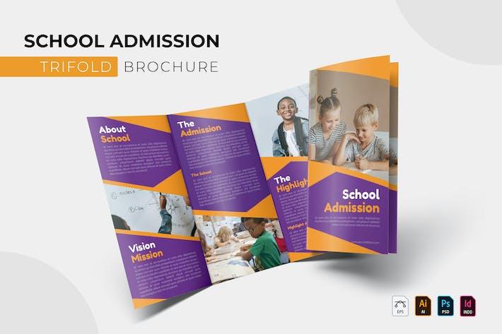 School Admission   Trifold Brochure