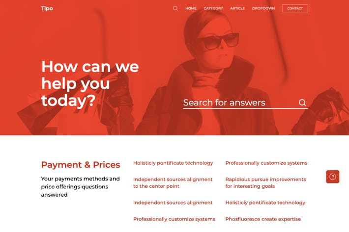Thumbnail for Tipo - Helpdesk and Documentation HTML5 Template