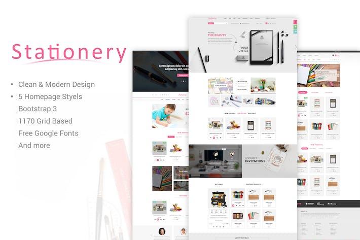 Stationery - Multi-Purpose eCommerce PSD Theme