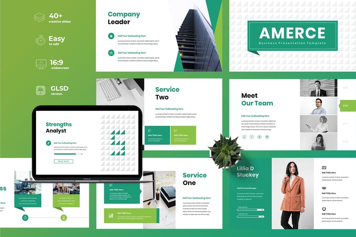 Thumbnail for Amerce - Business Google Slides Presentation