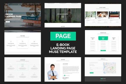 Page - Шаблон Muse EBook целевой страницы