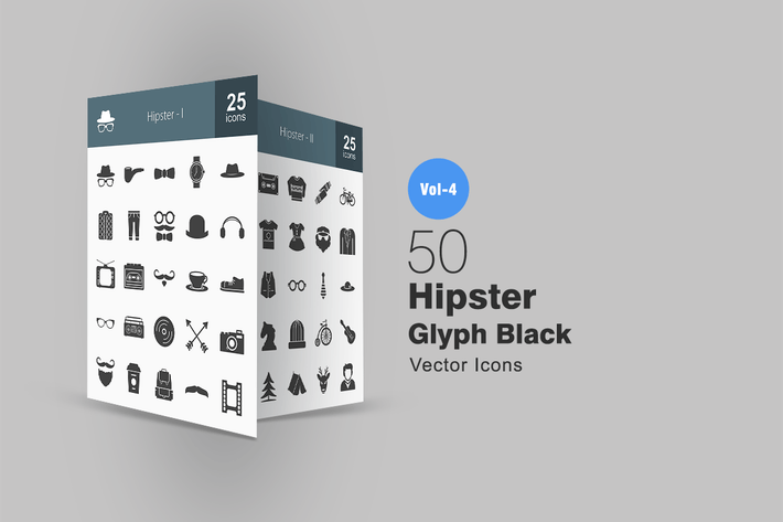 Thumbnail for 50 Hipster Glyph Icons