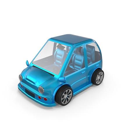 Cartoon Auto Blau