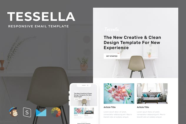 Tessella - Responsive Email + StampReady Builder - product preview 4