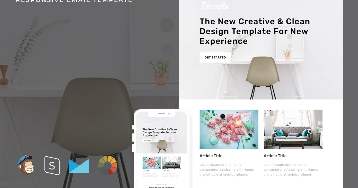 Download Tessella - Responsive Email + StampReady Builder by LEVELII