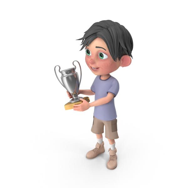Thumbnail for Cartoon Boy Jack Holding Trophy Cup