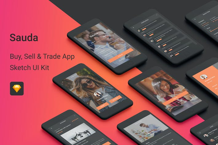 Thumbnail for Sauda - Buy, Sell & Trade UI Kit for Sketch