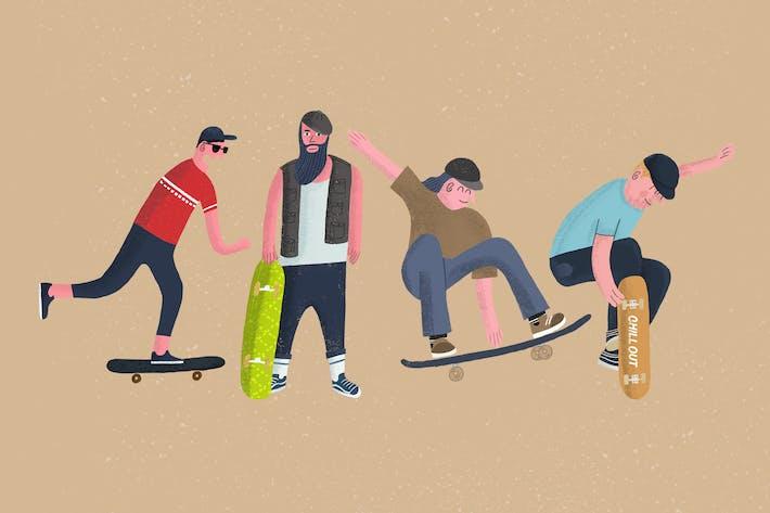 Thumbnail for Skateboard Illustrations