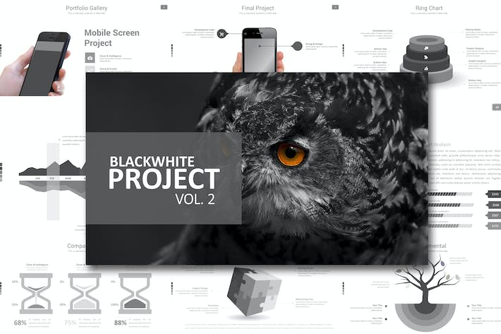 Thumbnail for Black White Project Vol. 2 Powerpoint