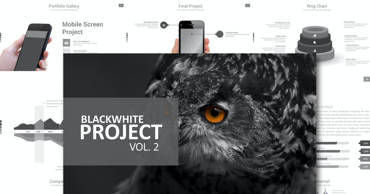 Download Black White Project Vol. 2 Powerpoint by Artmonk