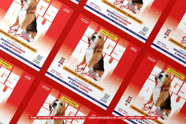 Happy International Dogs Day Flyer