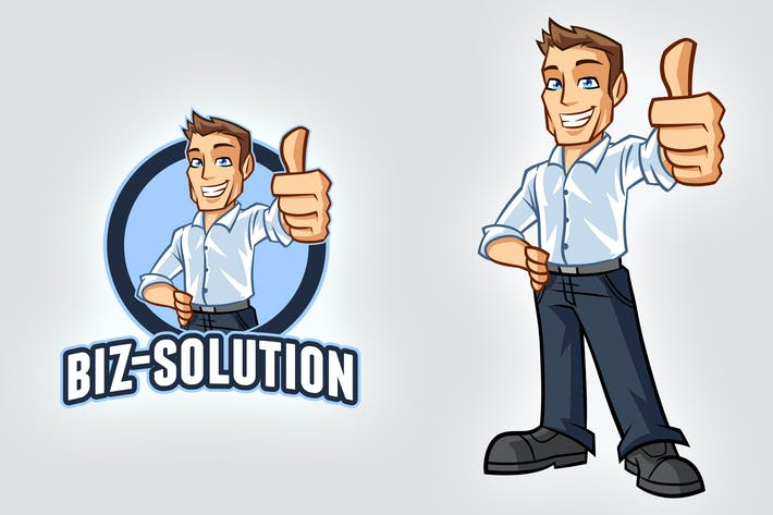 Thumbnail for Young Casual Businessman with White Shirt Logo