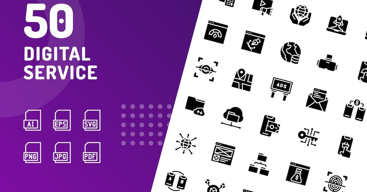 Download Digital Service Glyph Icons by kerismaker