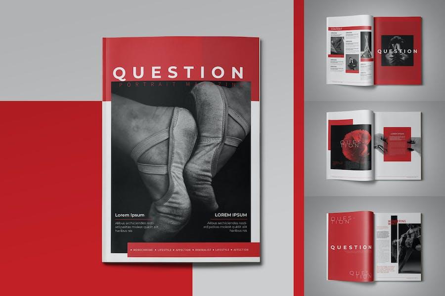 Question Portrait Magazine Template - product preview 0