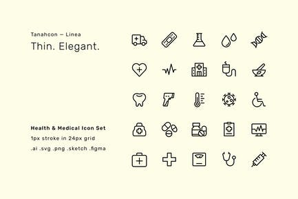 Health and Medical UI Icon Set - Linea