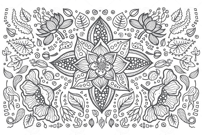 Thumbnail for Blumenkomposition - handgezeichnete Illustration