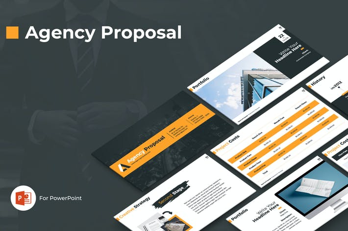 Thumbnail for Agency Proposal PowerPoint Template