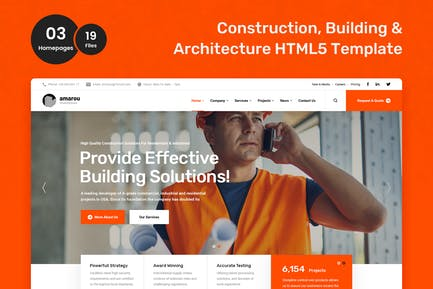 Amarou - Construction and Building HTML5 Template
