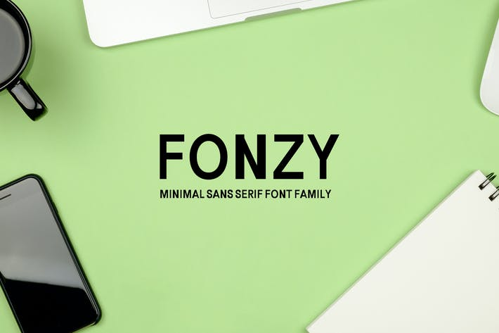 Cover Image For Fonzy Sans Serif Minimal Font Pack