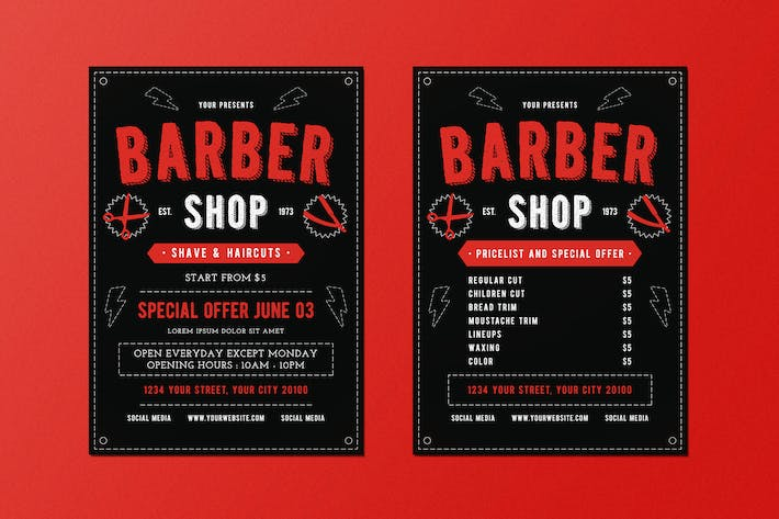 Thumbnail for Classic Barber Shop Flyer
