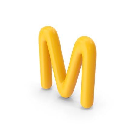Letter M Orange