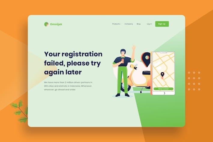 Thumbnail for Online Driver Arrive vector template Illustration