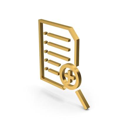 Symbol Document File Zoom Gold