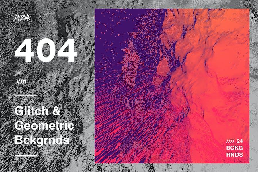 404 | Glitch & Geometric Backgrounds | V01