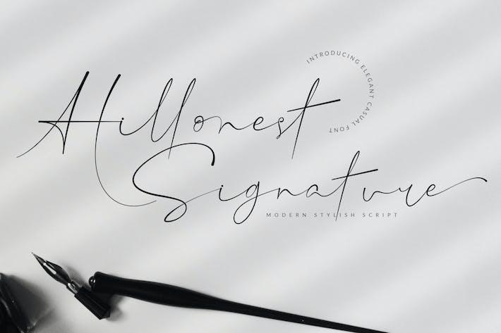Thumbnail for Police de signature Hillonest