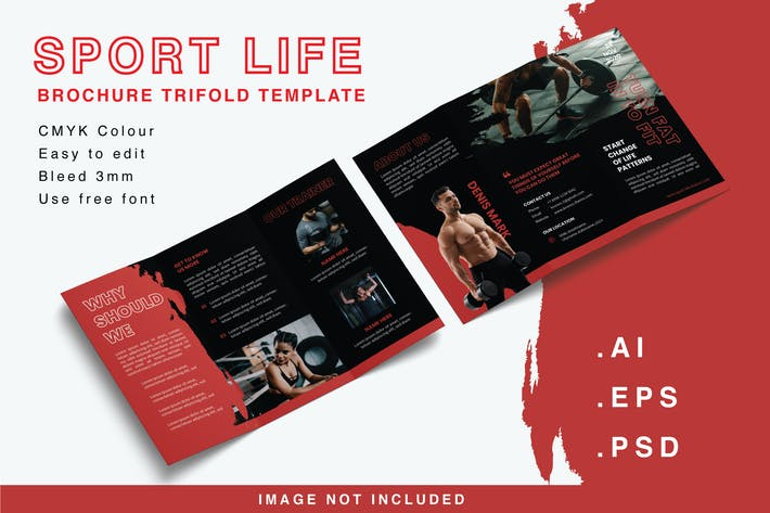 Thumbnail for Sport Life - Trifold Brochure Template