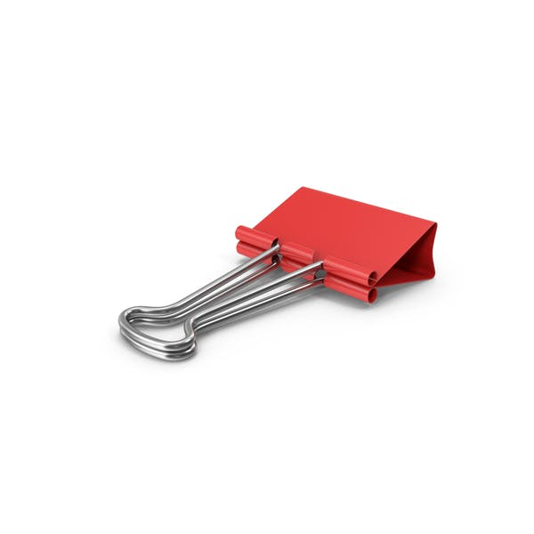 Binder Clip Red