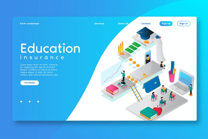 Thumbnail for Education Online - Web Header & Vector Template GR