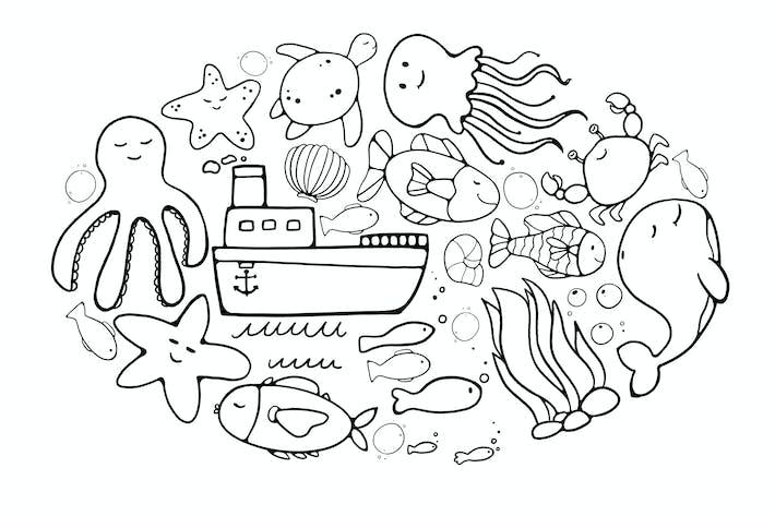 Thumbnail for Ozeanische Doodles