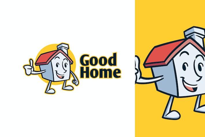Thumbnail for Cartoon Retro Vintage 50er Jahre Haus Maskottchen Logo