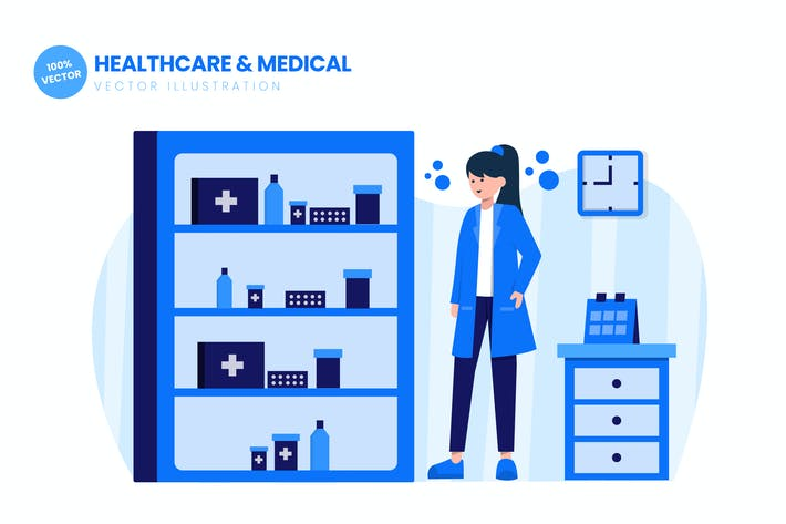 Thumbnail for Healthcare & Medical Flat Vector Illustration